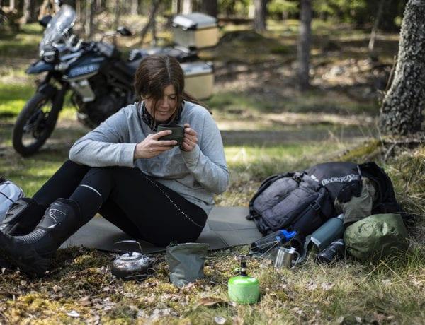 Wilda Nilsson coffee motorbike microadventure