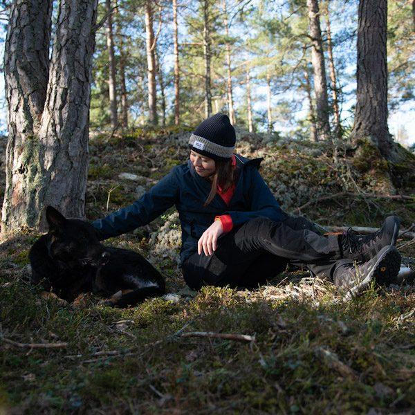 Wilda Nilsson with Flexie the German Shepherd