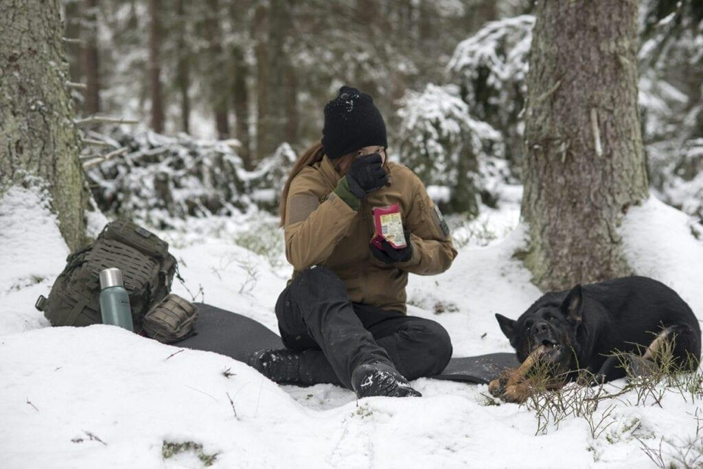 Frystorkad mat på vintern