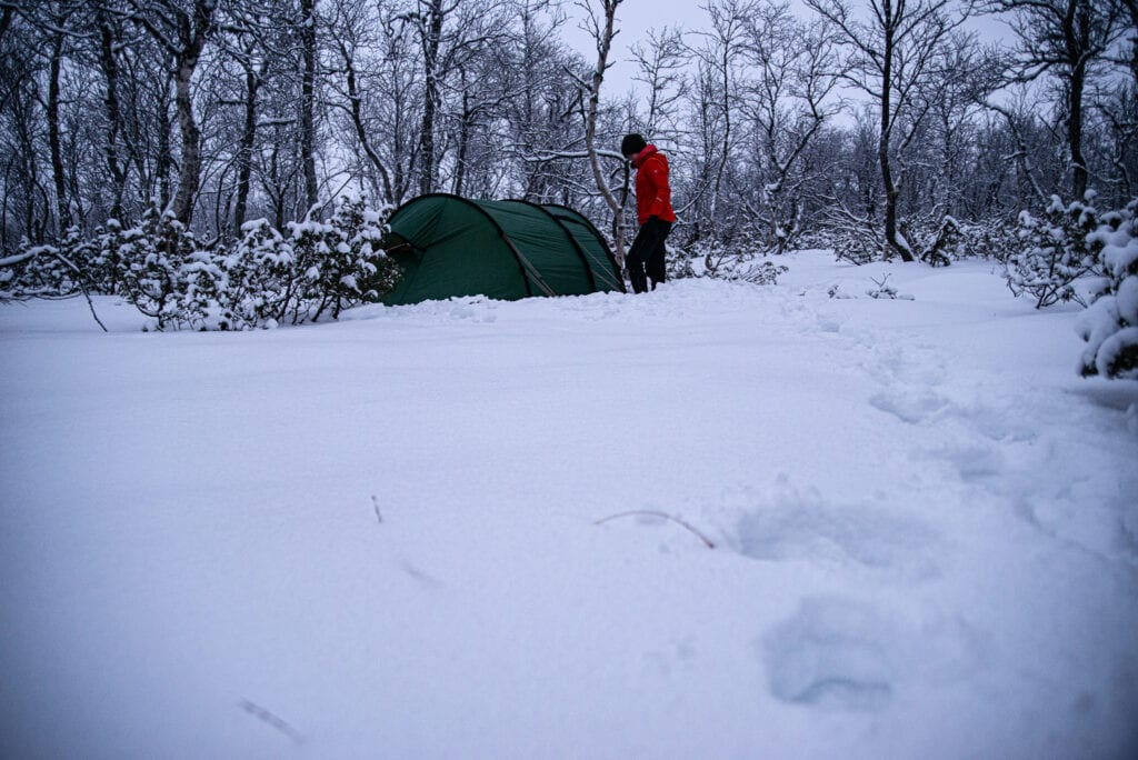 Hilleberg Nammatj GT på vintern