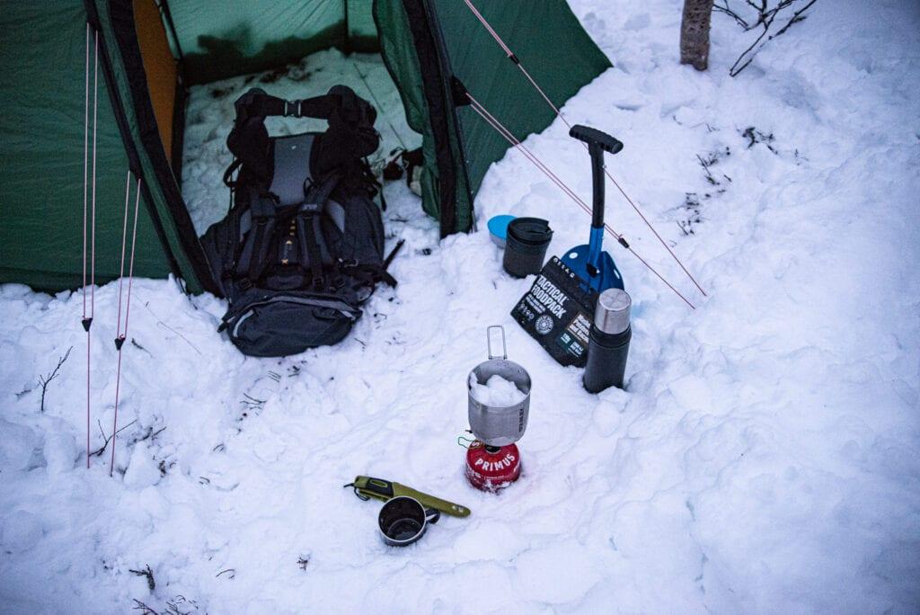 Camping på vintern med ryggsäck från Jack Wolfskin