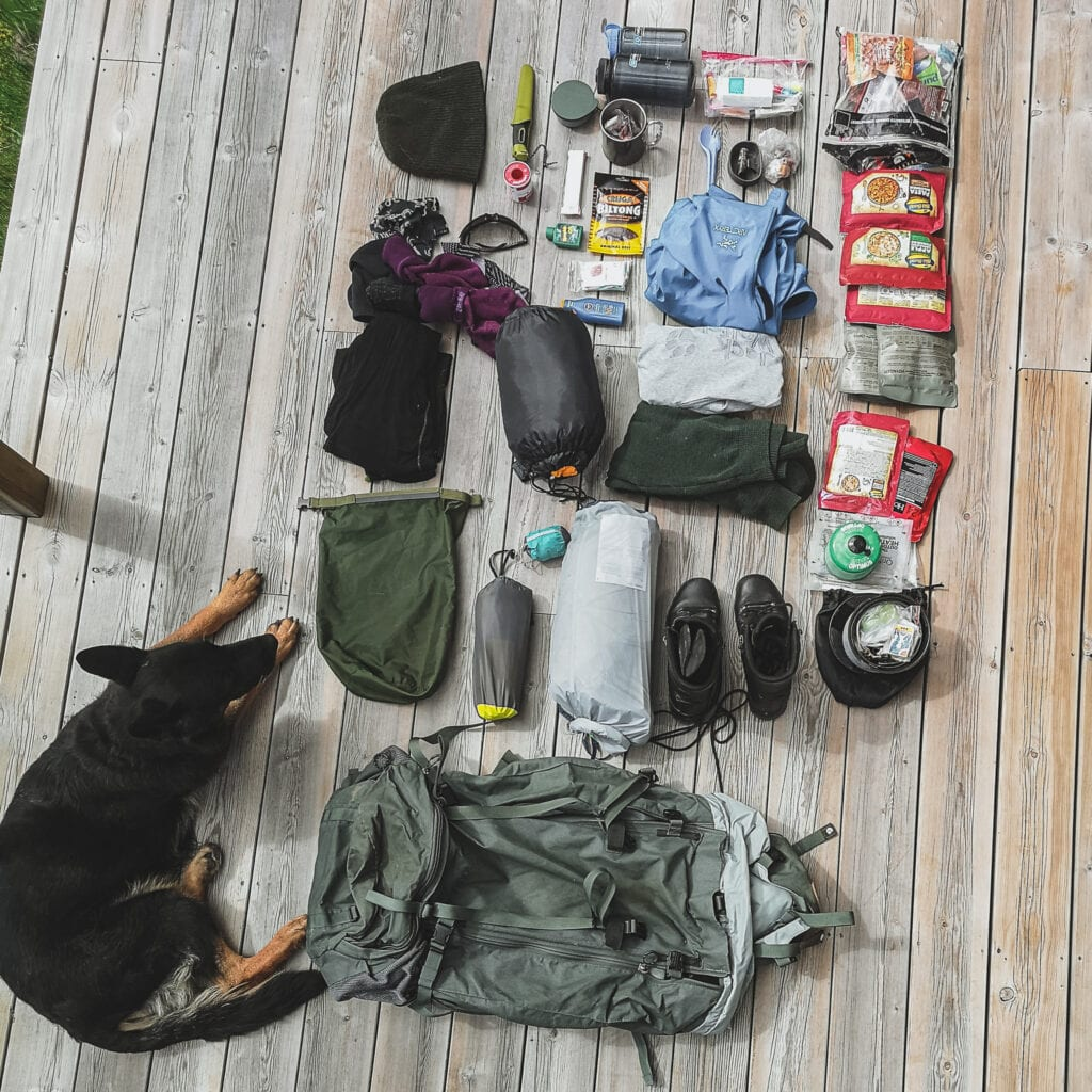 Packing for mountain hiking