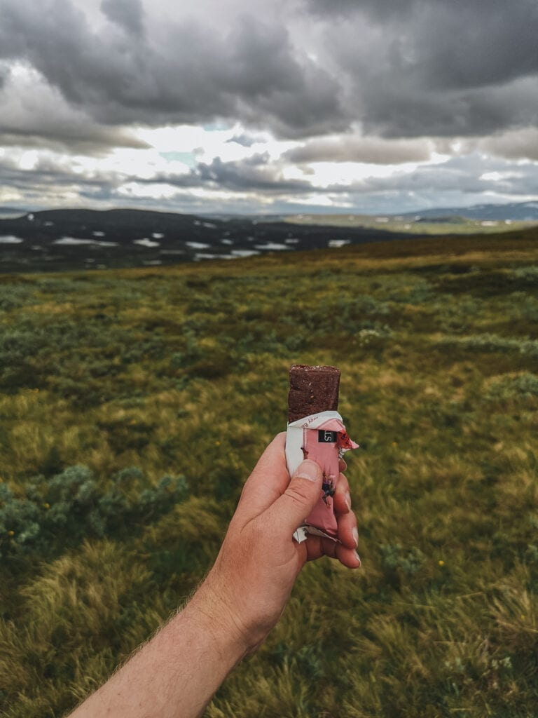 Energy bars are convenient to eat along the way on hiking