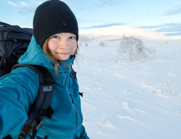 Wilda Nilsson i Tänndalen på vintern
