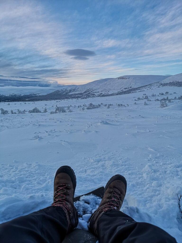 Vandring på vintern med kängor från Haix
