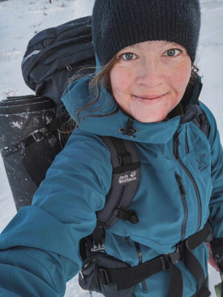 Wilda Nilsson vandring i snön