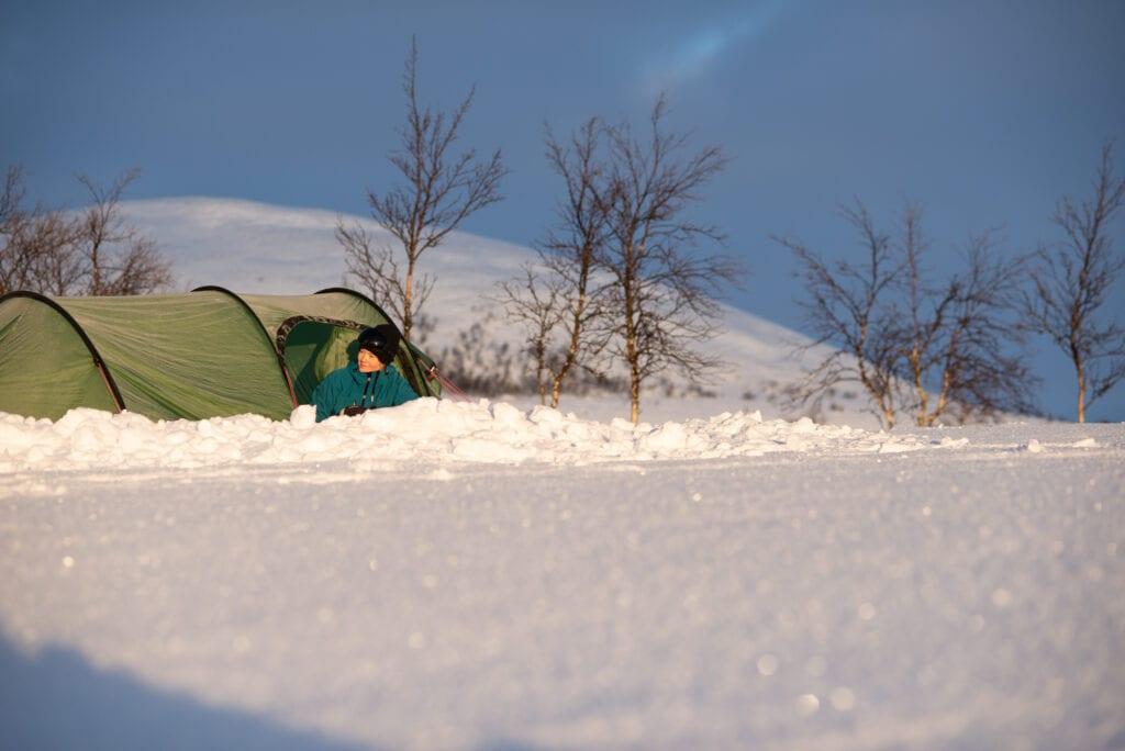 Vintertälta i Hilleberg Nammatj GT