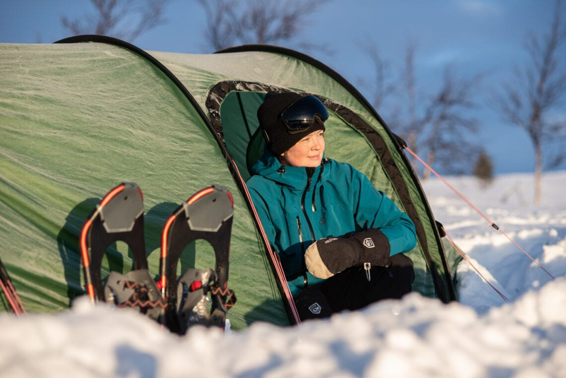 Hilleberg Nammatj GT on a winter camping tour in Sweden