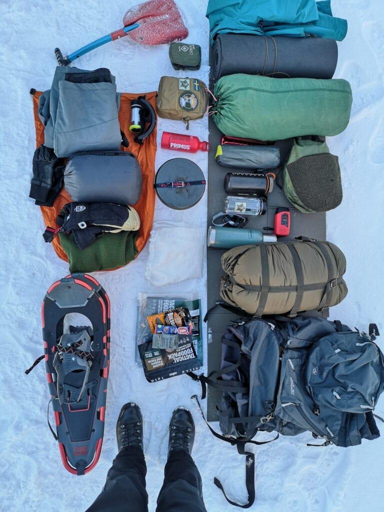Vinter camping redskap