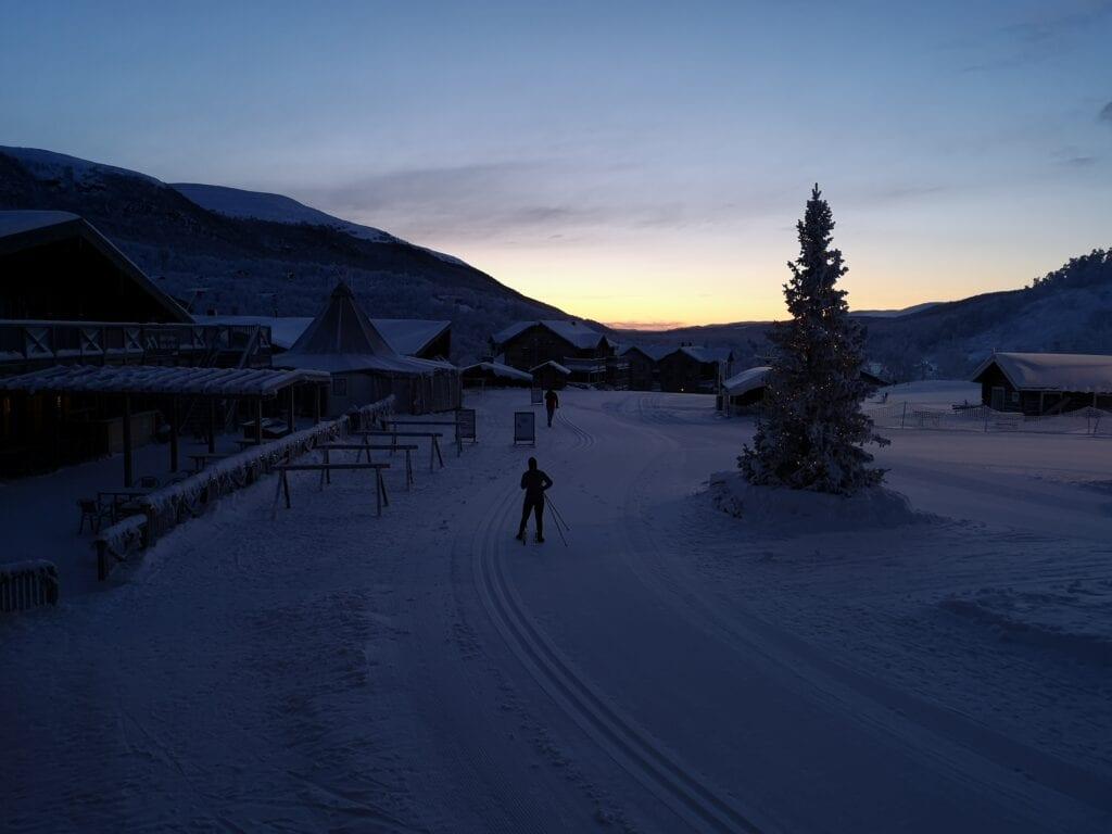 Utsikt från Ski Lodge i Tänndalen vid Hamra