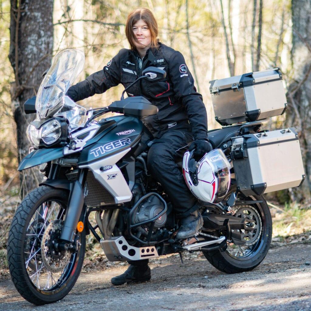 Motorcykel på äventyr