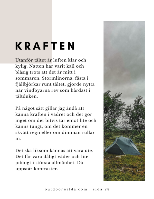 Krönika ur bok om Fjällvandring av Wilda Nilsson