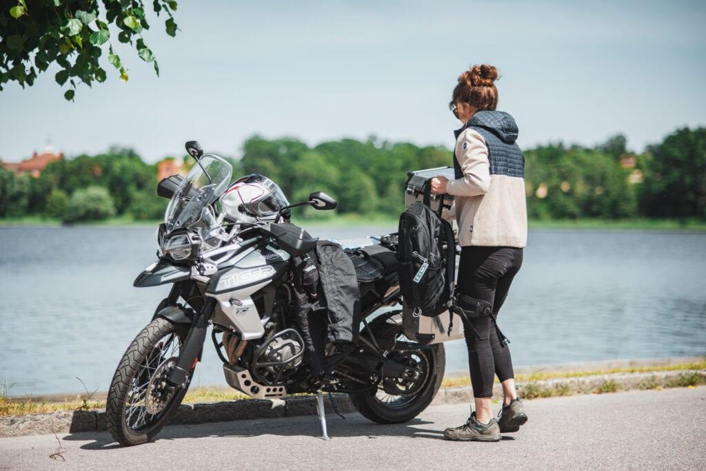 Motorcykel med packväskor
