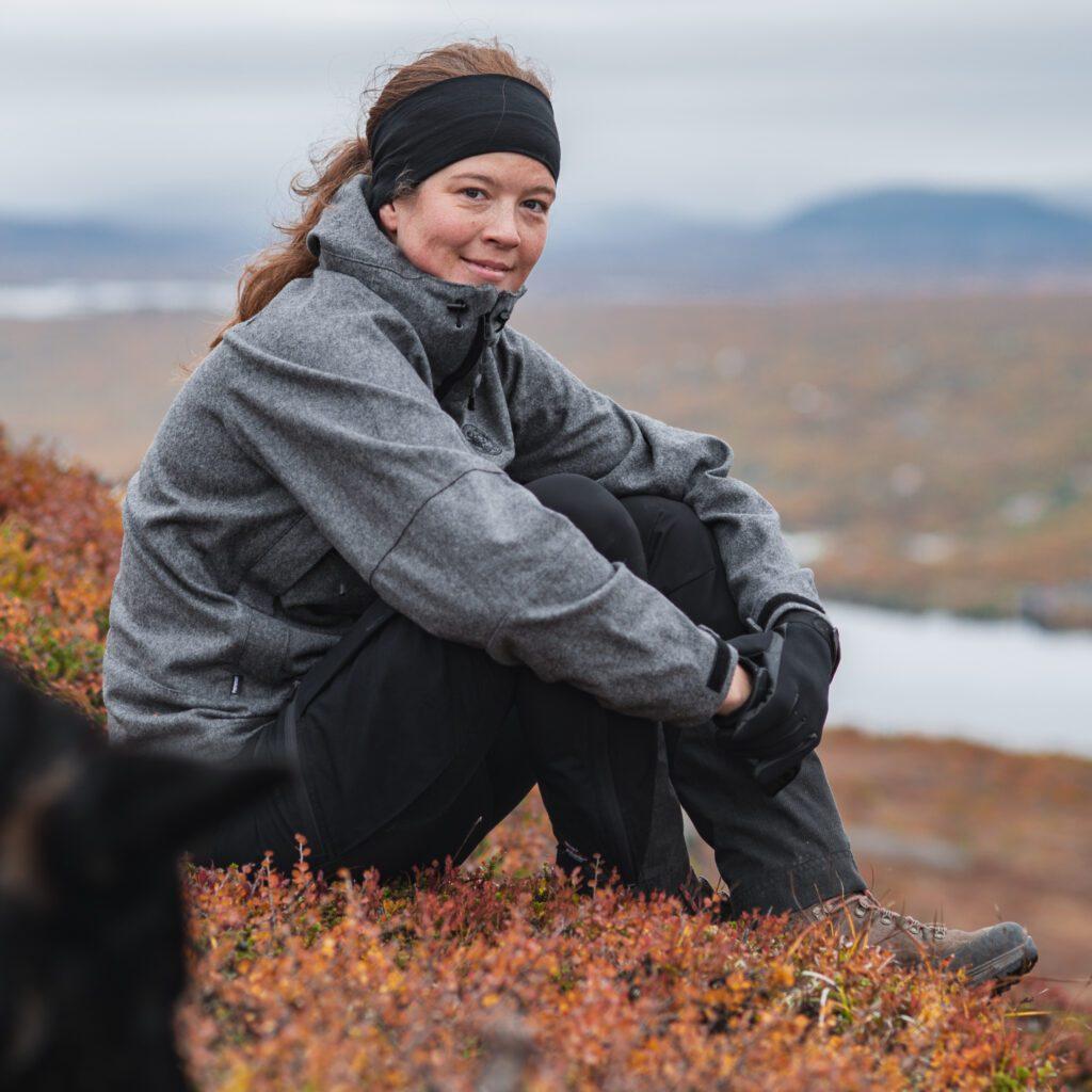 Wilda Nilsson i Tänndalen på Svansjökläppen