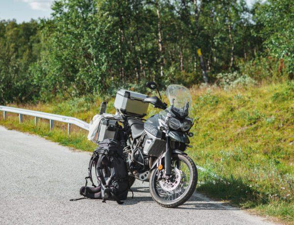Motorcykel i fjällen Triumph Tiger 800 XCA