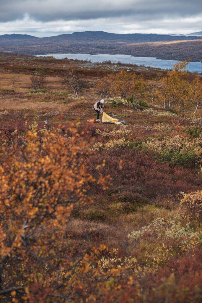 Funäsfjällen utsikt över sjön Malmagen