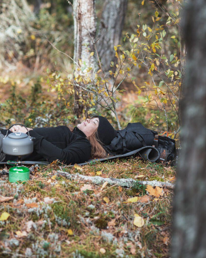 Vila i skogen mental återhämtning